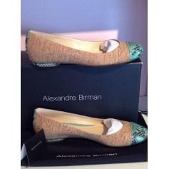 Ballerines ALEXANDRE BIRMAN Liege brun . Python turquoise