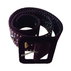 Wide Belt SANDRO Red, burgundy