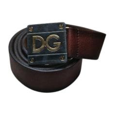 Cintura DOLCE & GABBANA Marrone