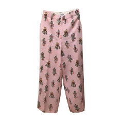 Pantalone largo PRADA Rosa, fucsia, rosa antico