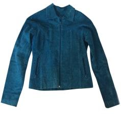 Veste en cuir GUESS Bleu, bleu marine, bleu turquoise