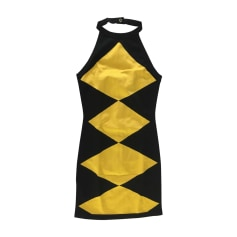 Mini Dress BALMAIN Yellow