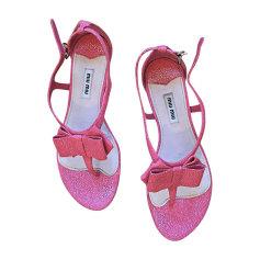 Flat Sandals MIU MIU Pink, fuchsia, light pink