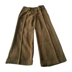 Pantalone svasato RALPH LAUREN Marrone savana