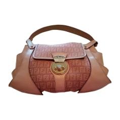 Leather Handbag FENDI Lila