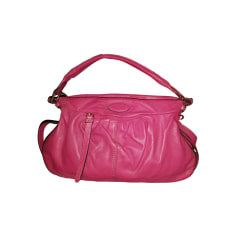 Leather Handbag LANCEL Pink, fuchsia, light pink