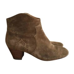 Santiags, bottines, low boots cowboy ISABEL MARANT Dickers Kaki
