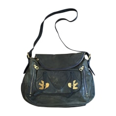 Leather Shoulder Bag Blue, navy, turquoise