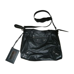 Leather Handbag BALENCIAGA City Black