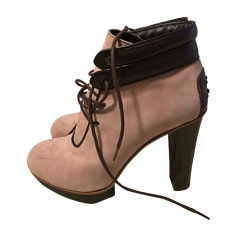 High Heel Ankle Boots TOD'S Pink, fuchsia, light pink
