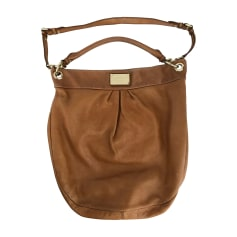 Leather Handbag Beige, camel