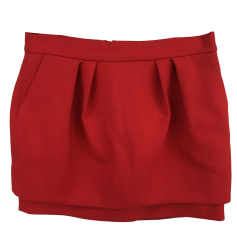 Mini Skirt MAJE Red, burgundy