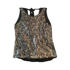 Top, tee-shirt SANDRO Doré, bronze, cuivre