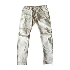 Skinny Jeans PIERRE BALMAIN Weiß, elfenbeinfarben