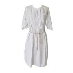 Robe mi-longue BELLEROSE Blanc, blanc cassé, écru