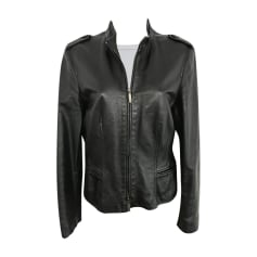 Leather Zipped Jacket CERRUTI 1881 Black