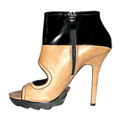 High Heel Ankle Boots CAMILLA SKOVGAARD Brown