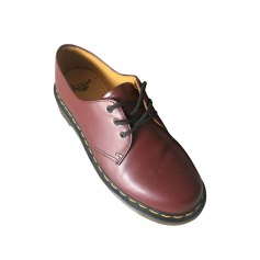 Lace Up Shoes DR. MARTENS Red, burgundy