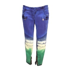 Jeans droit BALMAIN Bleu, bleu marine, bleu turquoise