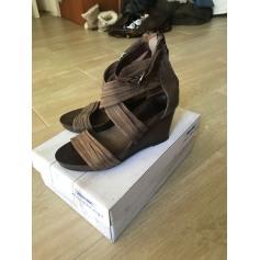 Sandales compensées AIRSTEP Marron