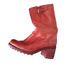 High Heel Boots FREE LANCE Red, burgundy