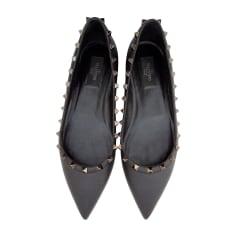 Ballet Flats VALENTINO Rockstud Black