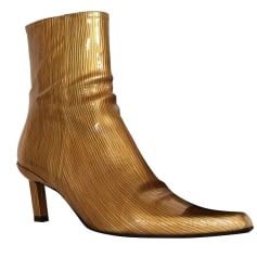 High Heel Ankle Boots FREE LANCE Golden, bronze, copper