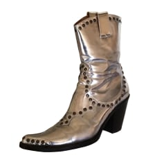 Cowboy Ankle Boots FREE LANCE Silver
