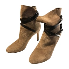 Bottines & low boots à talons JIMMY CHOO Beige, camel