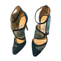 Sandales à talons JIMMY CHOO Bleu, bleu marine, bleu turquoise