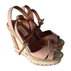 Wedge Sandals VALENTINO Beige, camel