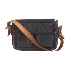 Borsa a tracolla in pelle LOUIS VUITTON Marrone