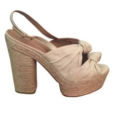 Heeled Sandals CASTANER Beige, camel