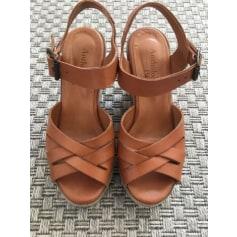 Sandales compensées ANTHOLOGY PARIS Beige, camel