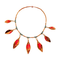 Necklace AURELIE BIDERMANN Golden, bronze, copper