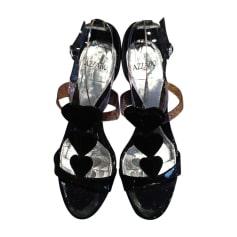 Sandales compensées AZZARO Noir