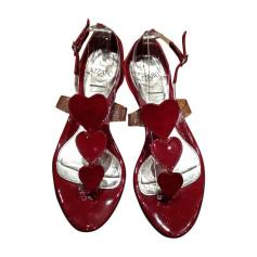 Sandales plates  AZZARO Rouge, bordeaux