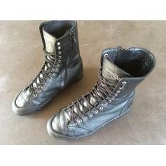 Bottines & low boots plates SPRING COURT Noir