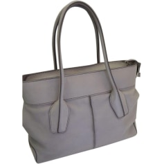 Leather Shoulder Bag TOD'S Gray, charcoal