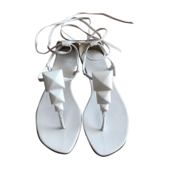 Flat Sandals HERMÈS White, off-white, ecru