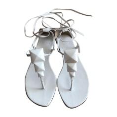 Sandales plates  HERMÈS Blanc, blanc cassé, écru
