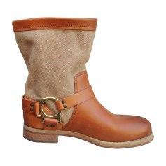Bottines & low boots motards DOLCE & GABBANA Marron