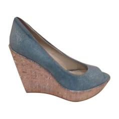 Sandales compensées BALDININI Bleu, bleu marine, bleu turquoise