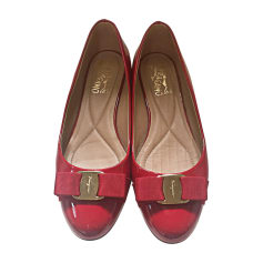 Ballet Flats SALVATORE FERRAGAMO Red, burgundy