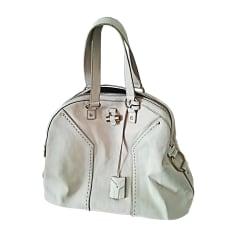 Leather Oversize Bag YVES SAINT LAURENT Muse White, off-white, ecru