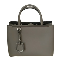Leather Handbag FENDI 2Jours Beige, camel