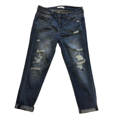 Jeans large, boyfriend ABERCROMBIE & FITCH Bleu, bleu marine, bleu turquoise