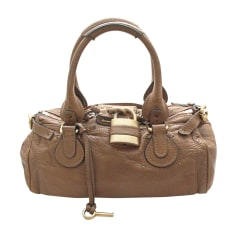 Leather Handbag CHLOÉ Paddington Brown