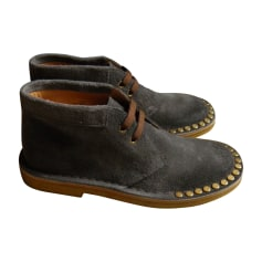 Ankle Boots PRADA Gray, charcoal