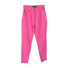 Straight Leg Jeans VERSACE Pink, fuchsia, light pink